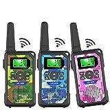 Walkie Talkie Kids,3 KM Long Range Walkie Talkie Toys with 8 Channels, 2