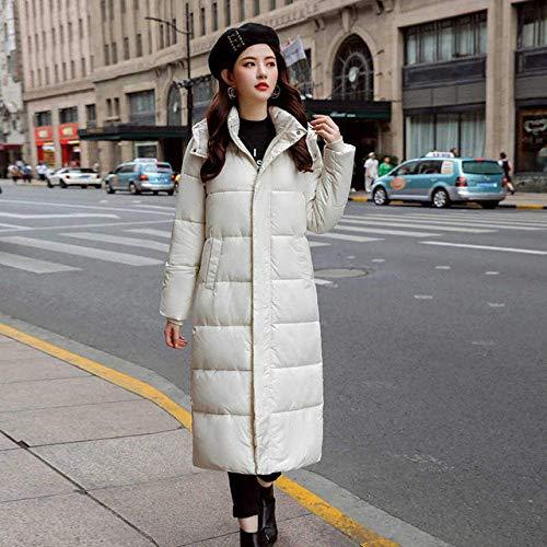 SLM-max Dikke donsjas,herfst winter uitverkoop Dames Plus size Mode katoenen donsjack met capuchon lang Parkas warme jassen Dames winterjas kleding, zwart, L.