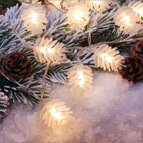 Wandskllss Luz solar al aire libre de hadas llevó cinta impermeable pino cono cadena de luz al aire libre luz solar Navidad LightingWarm white5m 20 luces