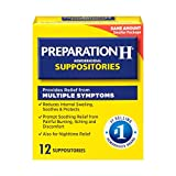 Preparation H Hemorrhoidal Suppositories - 12 ct, Pack of 3