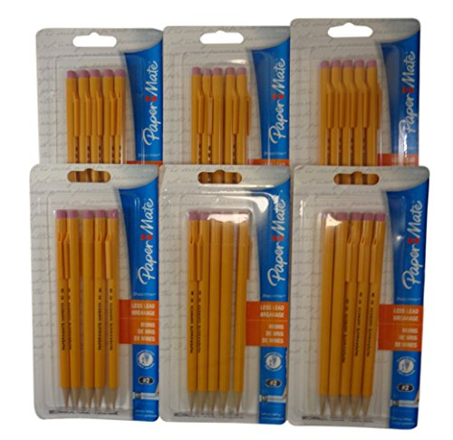 Papermate 3037631PP SharpWriter Mechanical Pencils, Twistable Tip, 0.7 Mm, 6 Blisters of 6 Pencils, Total 36 Pencils