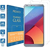 PREMYO 2 Stück Panzerglas Schutzglas Bildschirmschutzfolie Folie kompatibel für LG G6 Blasenfrei HD-Klar 9H 2,5D Gegen Kratzer Fingerabdrücke