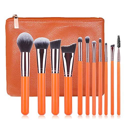 GBY Lot de 11 pinceaux de maquillage professionnels pour fond de teint, blush, poudre, kabuki