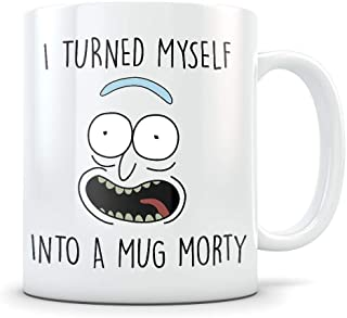 HL HLPPC Rick Morty Mug - Pickle Rick Parody - I Turned Myself Into a Mug Morty Funny Rick Sanchez Coffee Cup - Great Gift for Rick and Morty Fans