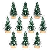 IMIKEYA Christmas Tree 2 Inch Christmas Tiny Trees Set of 10 Desktop Decor Mini Tree for Christmas Party Home Decorations