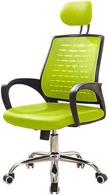 ゲーミングチェア コンピュータチェアホームオフィスチェア戻るチェアスイベル座椅子チェア (Color : Green)