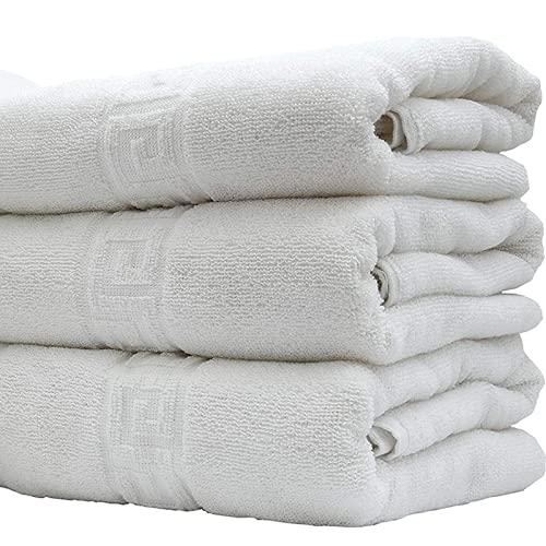 ADP Home - Pack de 6 Und. Toalla Greca, 100% ALGODÓN, Textil para HOSTELERÍA, (Blanco, 70 X 140 CM)