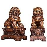 WXMYOZR Feng Shui Lion Statues Riqueza Prosperidad Par De Fu Foo Dogs Guardian...