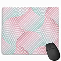 """Trendy Geometric Seamless Pattern Mouse Pad Non-Slip Rubber Gaming Mouse Pad Rectangle Mouse Pads for Computers Desktops Laptop 9.8"""" x 11.8"""""""