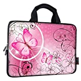 iColor 14 15 15.4 15.6 inch Laptop Handle Bag Computer Protect Case Pouch Holder Notebook Sleeve Neoprene Cover Soft Carring Travel Case for Dell Lenovo Toshiba HP Chromebook ASUS Acer Pink ICB-10