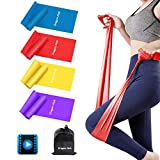 Resistance Bands, Exercise Bands for Physical Therapy, Yoga, Pilates, Rehab and Home Workout, Non-Latex Resistance Bands Set of 4