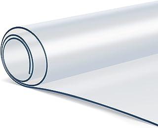 Femor Nappe Transparente en PVC écologique, Protection de Table 90 * 200 * 0.2CM, Imperméable, résistant à l'huile, antidé...