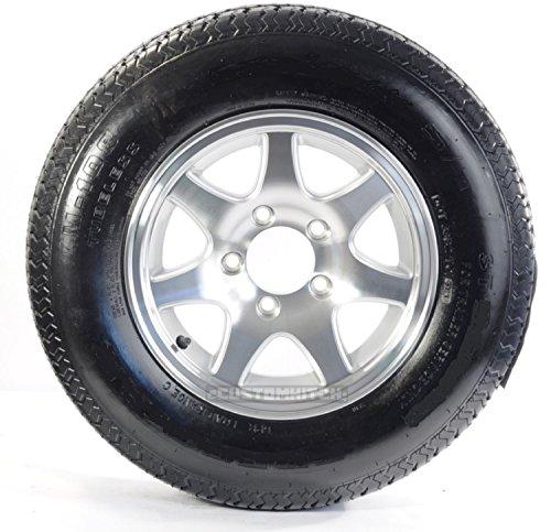 2-Pk Radial Trailer Tire Rim ST175/80R13 175/80R-13 5 Lug Aluminum covid 19 (Spoke Aluminum Trailer Tire coronavirus)