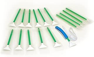 Sensor Cleaning swabs Vswabs MXD-100 Green 1.0X / 24 mm 12 per Pack with Bonus CurVswab and Corner Swabs