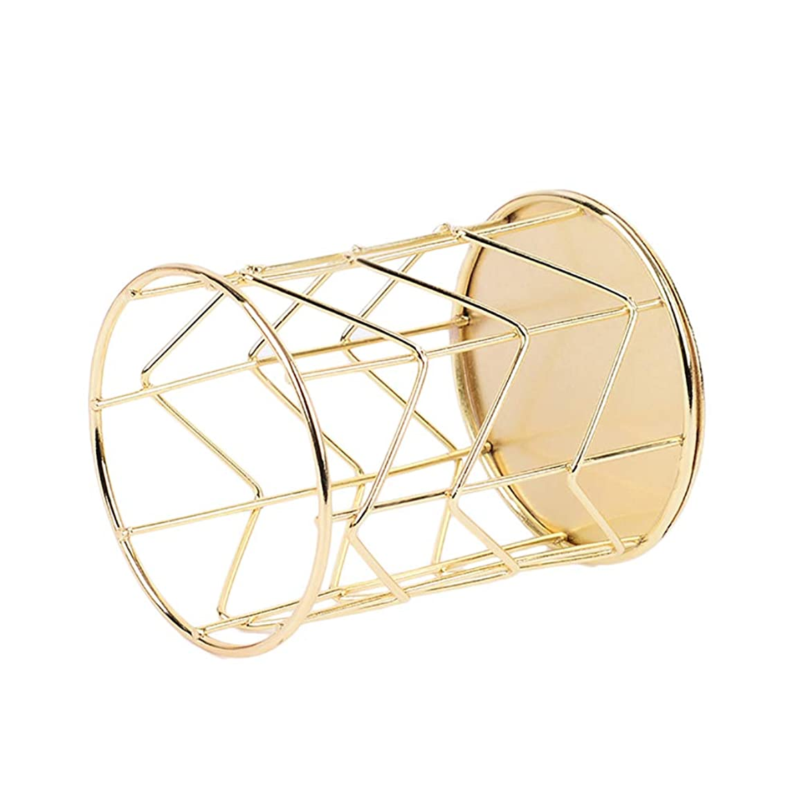 Dylandy Fashion Creative Pen Holder Gold Storage Box Student Office Supplies Multifunctional Wrought Iron Pen Holder Cosmetic Brush Tube