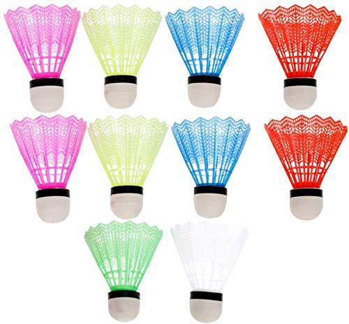 U/D - Volani in plastica multicolore per badminton Training12 pezzi