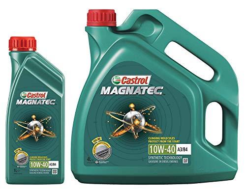 Castrol Magnatec - Aceite de motor semisintético, 10W-40 A3/B4, 5 litros