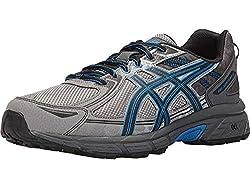 top rated ASICS Gel Venture 6 Men's Shoes, Aluminum / Black / Blue Directoire 10 4E US 2021