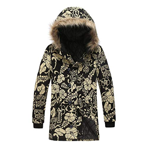 Shinehua heren donsjas winterjas hooded buffer jack gewatteerde jas gevoerd met nep bont capuchon winter jas parka outdoor warme overgangsjas donsparka wintermantel lang