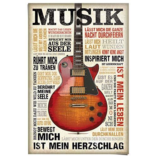 REINDERS Musik ist Leidenschaft - Poster 61 x 91,5 cm