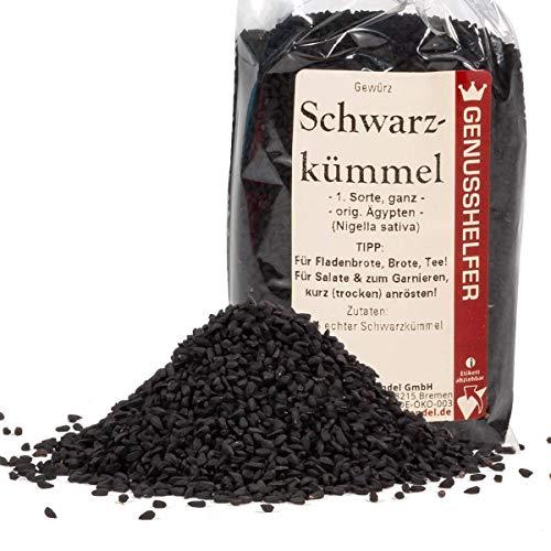 Schwarzkümmel 100 Gramm ganz, leicht scharfe schwarze Sesamsamen, ohne Zusatzstoffe & ohne Geschmacksverstärker - Bremer Gewürzhandel
