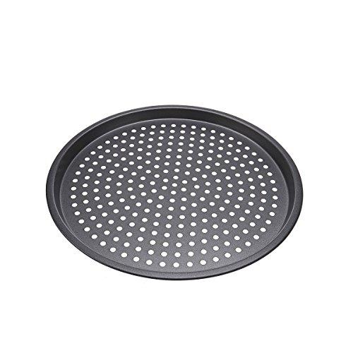 BESTOMZ 12-Zoll Antihaftbeschichtetes Pizzablech, rund, 32 cm