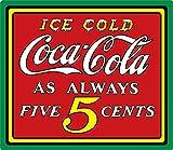Letrero de Lata con diseño de Coca Helada de 15 x 133 Pulgadas