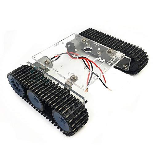 WYY Autarke Elektronikmodul Montageloch Acryl-Tank Roboter Chassis DC9-12V Kettenfahrzeug DIY Arduino Kit