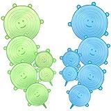 CISHANJIA Tapas de Silicona Elasticas,12pcs Tapas de Silicona Reutilizables...