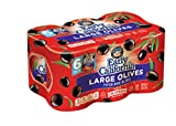 Early California, Ripe Pitted, Large Black Olives, 6 oz, 6-Cans