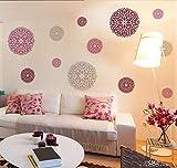 Stencil Danesa Redonda plantilla decorativa reusable para pintar con efecto papel tapiz (Mediana)