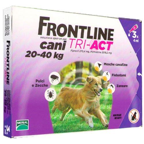 FrontLine Tri-act Cani 20-40kg 3 pipette da 4ml