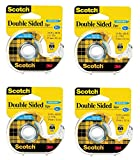 Scotch Double Sided Removable Tape, Long-Lasting, Trusted Favorite, 3/4 x 400 Inches, 4 Dispensered Roll (667)
