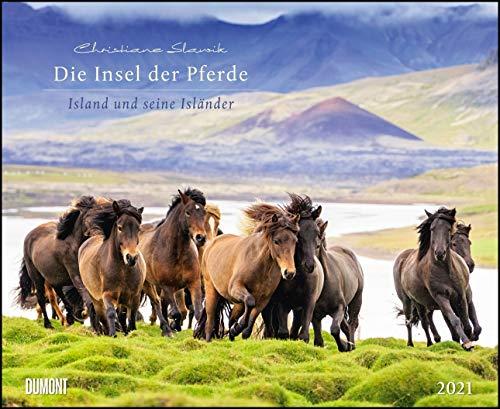 Die Insel der Pferde: Island und seine Isländer 2021 – Pferde- und Landschafts-Kalender – Querformat 52 x 42,5 cm