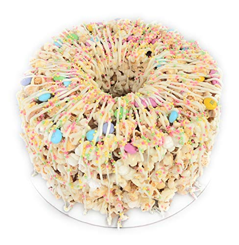 Find Cheap Popped Passion Gourmet Popcorn Cake with Pastel M&Ms and White Chocolate Drizzle, Gluten ...