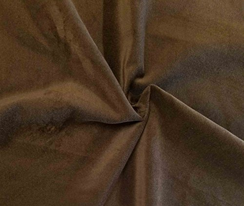 Quality Brown 100% Cotton Velvet Velour Fabric for Upholstery/Drapery/Crafts/Costumes Heavy 16oz Weight Thick Curtain Material Sold by The Yard at 54 inch Wide