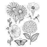 WT-DDJJK Sello de Dibujos Animados, libélula Flores Silicona Sello Transparente DIY Scrapbooking en Relieve Foto Arte