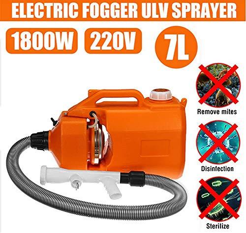 GHDE& Pulverizador eléctrico portátil ULV Pulverizador de máquina de Niebla desinfectante 7L para la máquina de pulverización Ultra Capacity Home de hospitales