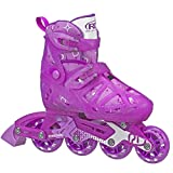 Roller Derby Girls Tracer Adjustable Inline Skates (Purple, Medium (2-5))