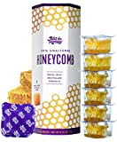 Pass The Honey Single-Serve Honeycomb 100% Pure Raw Unfiltered Honey - Snacking, On-the-Go Honey Packets (7 Servings - Pack of 1)