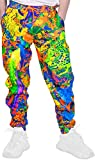 Cool Outfit Glow Cloth Wear for Rave Party Festival Crazy Big Neon 2XL Joggers