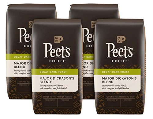 Peet's Coffee Decaf Major Dickason's 1 lb, 4-pack