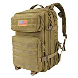 Mens Military Tactical Backpack Molle Pack 45L Army Backpack Tactical Hiking Backpack with Molle...