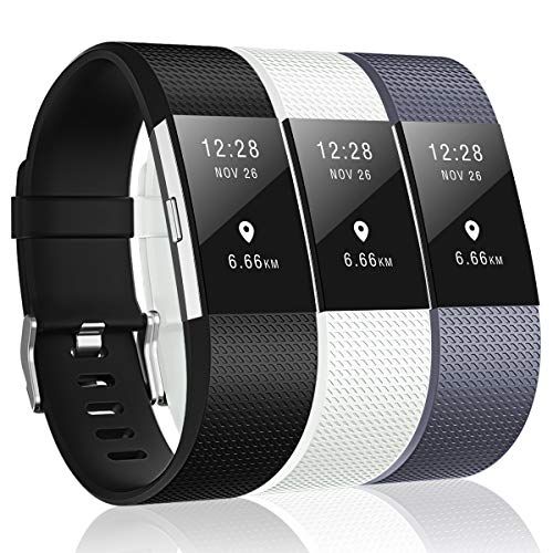3 Pack Bands Compatible with Fitbit Charge 2, Classic & Special Edition Replacement Bands for Fitbit Charge 2, Women