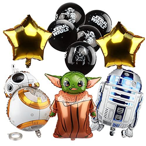 Yisscen Star War Ballons, Luftballons Geburtstag, Star War Folienballons, Helium Luftballons Latexballons, Motto Lieferungen Partyzubehör, ür Kind Geburtstags Party Dekoration Set (18 Stück)