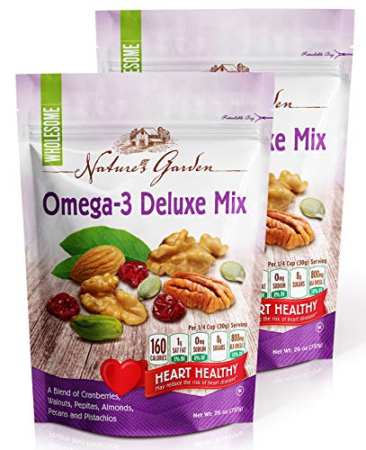Nature's Garden Omega-3 Deluxe Nut Mix, 26 ounce (Pack of 2)