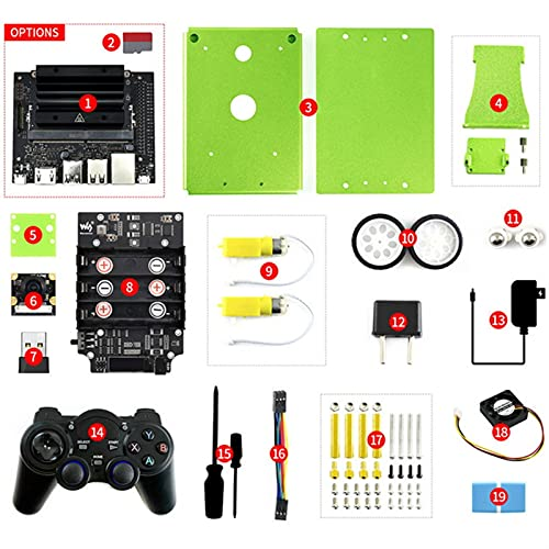 YEZIB Kit de 2GB AI, Robot AI basado en JE-TS-ON NA-NO 2GB Desarrollador Kit (Opcional) (Bundle : Nano 2GB TF Card)