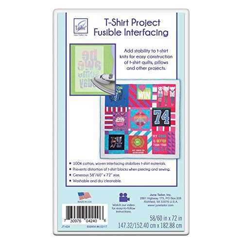 June Tailor Inc June Tailor T-shirt Project Fusible Interfacing, Each, White
