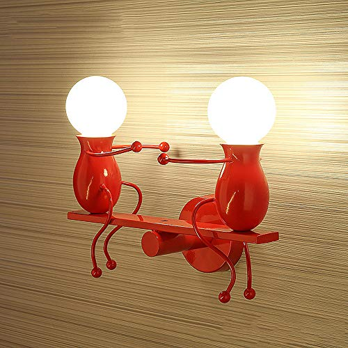 Moderne wandlamp, leuke wandlamp metaal materiaal E27 fitting voor slaapkamer gang woonkamer studie kinderkamer, warm licht
