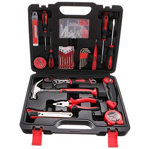 SIXTOL Home 86 piezas en un maletín de herramientas | 4 kg set en un maletín de aluminio